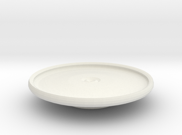 avon platter on stand in White Natural Versatile Plastic