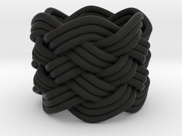 Turk's Head Knot Ring 6 Part X 6 Bight - Size 0 3d printed