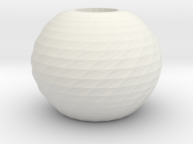 twisted ball vase in White Natural Versatile Plastic