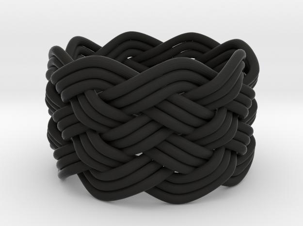 Turk's Head Knot Ring 6 Part X 8 Bight - Size 6 3d printed