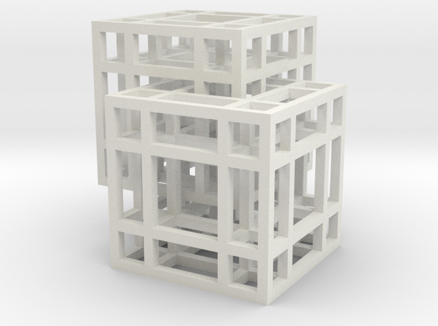 Complex Cube Chain in White Strong & Flexible
