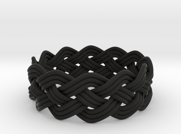 Turk's Head Knot Ring 4 Part X 12 Bight - Size 15. 3d printed