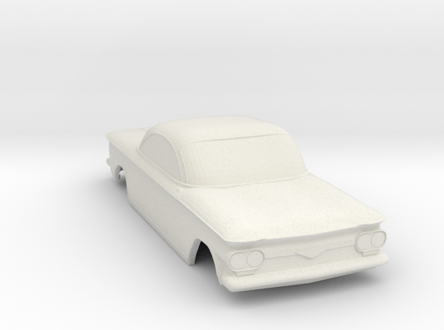 1963 Corvair Shell - 1:32scale in White Natural Versatile Plastic