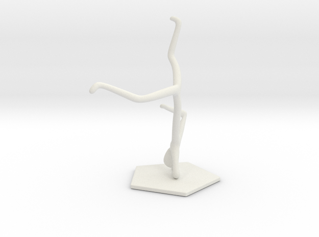 Breakdance Statue (updated) in White Natural Versatile Plastic