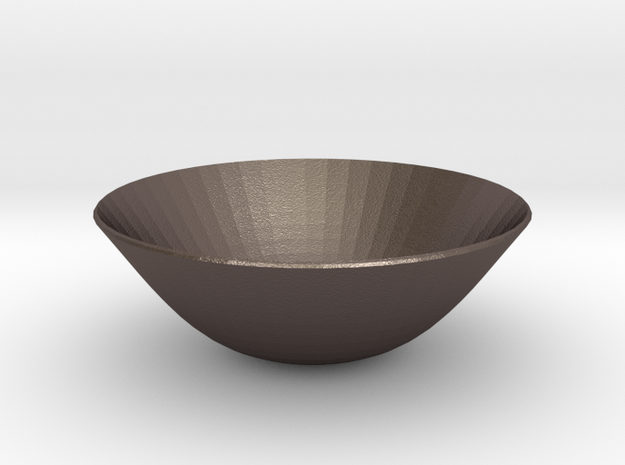 nero wok in Polished Bronzed Silver Steel