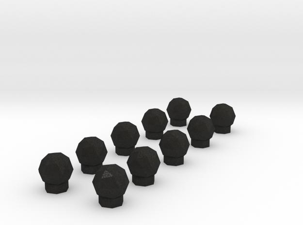 10 Domes 3d printed