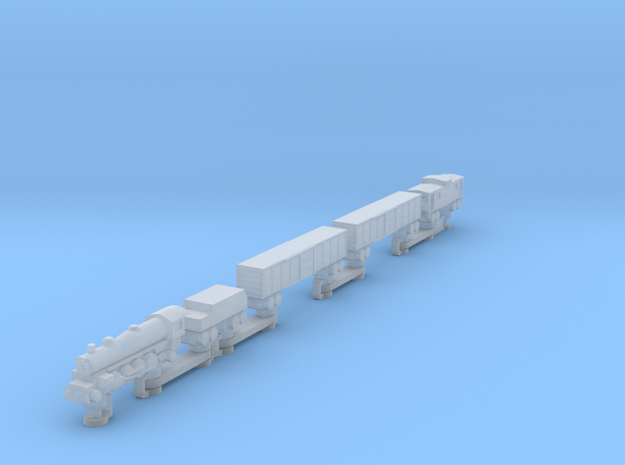Steam Train (one piece, track not included) in Smooth Fine Detail Plastic