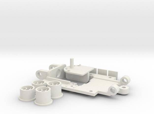 PDR Mini Chassis 43 V4 Standard in White Natural Versatile Plastic