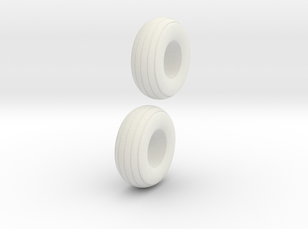 1:64 12.5L-15 Implement Tires in White Natural Versatile Plastic