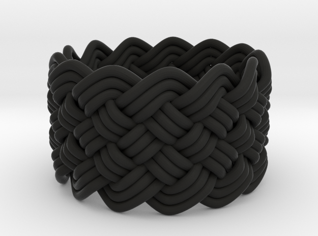 Turk's Head Knot Ring 6 Part X 13 Bight - Size 7 3d printed