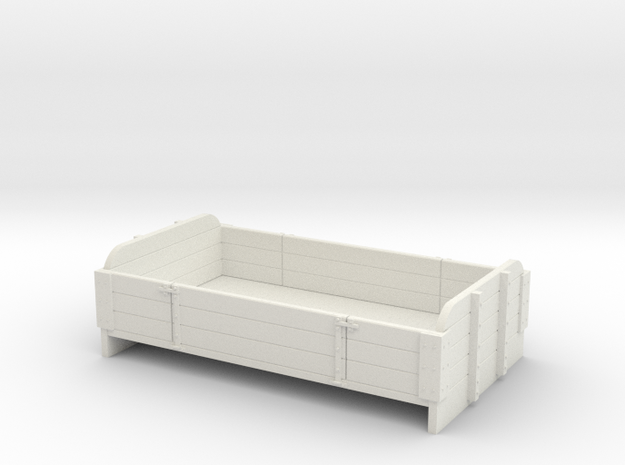 55n2 long 3 plank centre drop section in White Natural Versatile Plastic