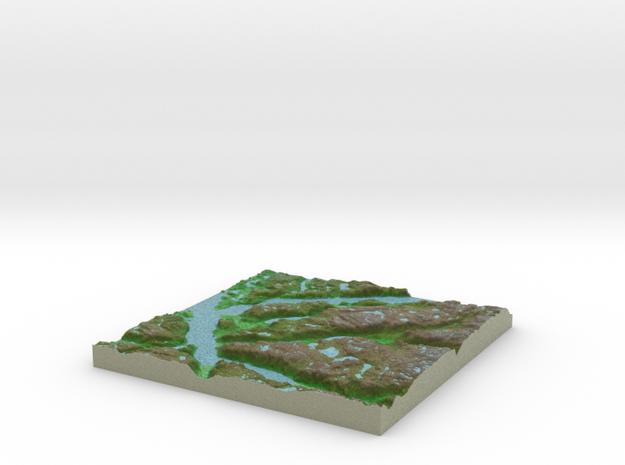 Terrafab generated model Mon Oct 28 2013 09:33:31  in Full Color Sandstone