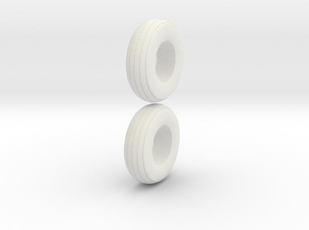 1:64 scale  9.5L-15 Implement Tires in White Natural Versatile Plastic
