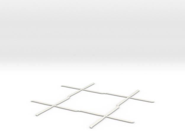1/285 (6mm) UH-60 (Large Rotors)  in White Natural Versatile Plastic