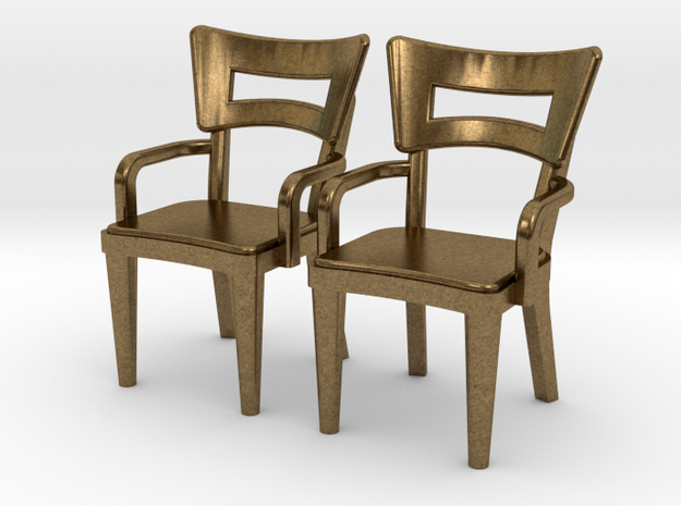 Pair of 1:48 Dog Bone Chairs, with Arms 3d printed