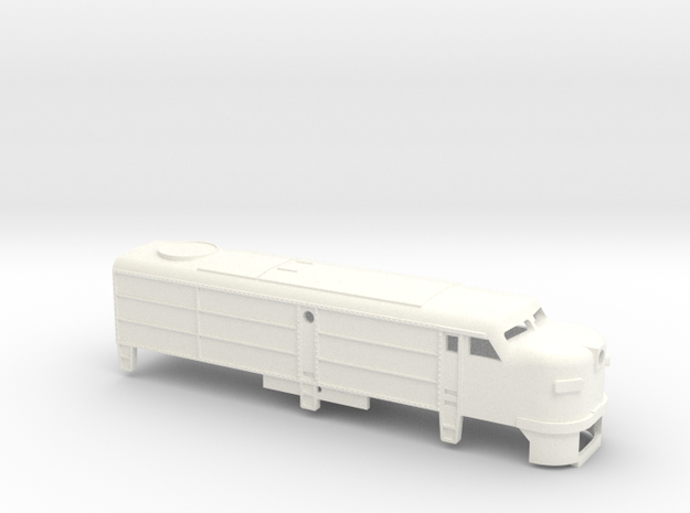 Z Scale Alco FA-1 Shell in White Processed Versatile Plastic