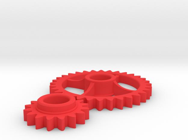 Semi-Formal Pocket Gear Train 3d printed