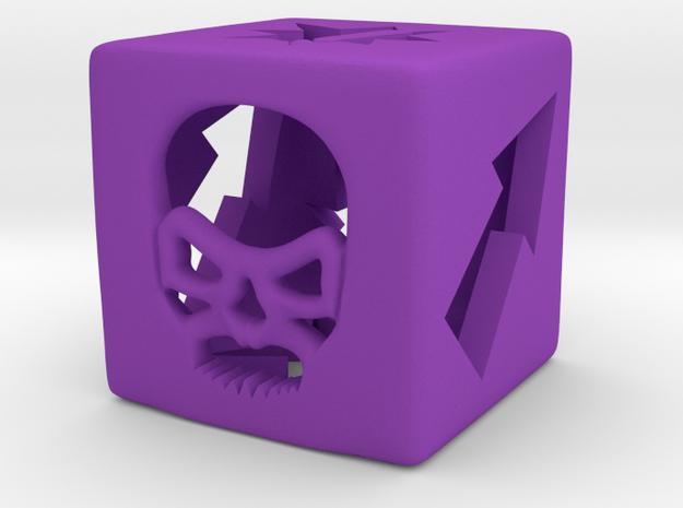 Blood Bowl Block Dice v2 in Purple Processed Versatile Plastic