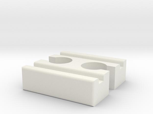 Ikea LILLABO F-F Connector 40mm in White Natural Versatile Plastic
