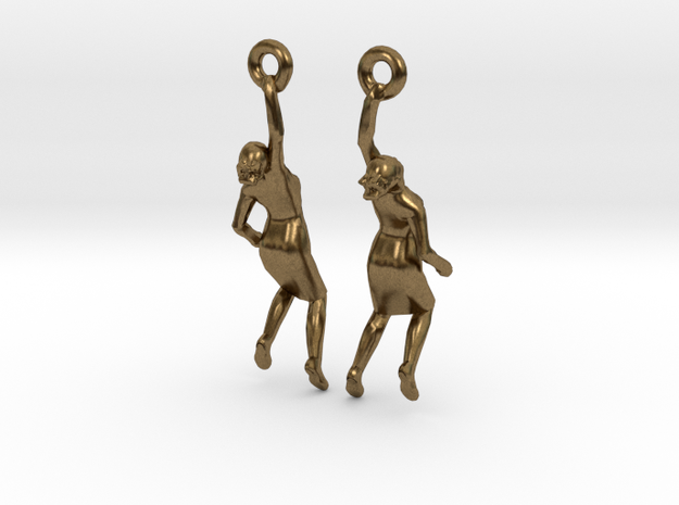 Earrings 'Golden lady'