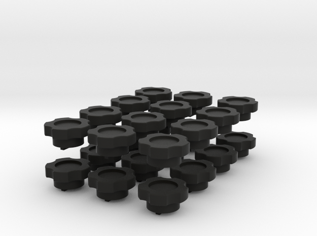 Assembly Of 24 Knobs for trimpotmeters 3d printed