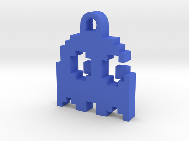 Pac Man Ghost 8-bit Earring 2 (looks right | movin 3d printed