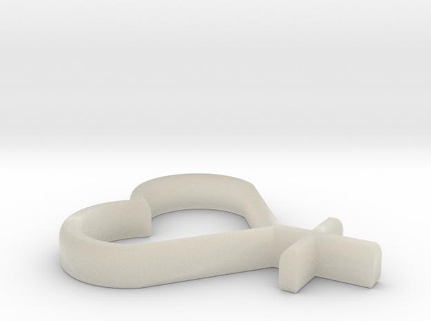 """Sailor Venus Symbol Pendant - 1"""" 3d printed"""