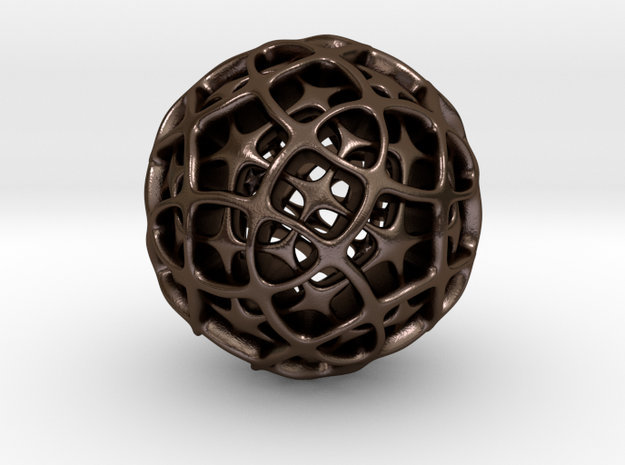 Dodecahedron XII, large 3d printed