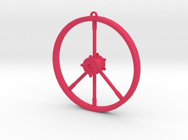 Peace Sign Dirtbike Wheel 3d printed