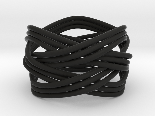 Turk's Head Knot Ring 4 Part X 3 Bight - Size 7 3d printed