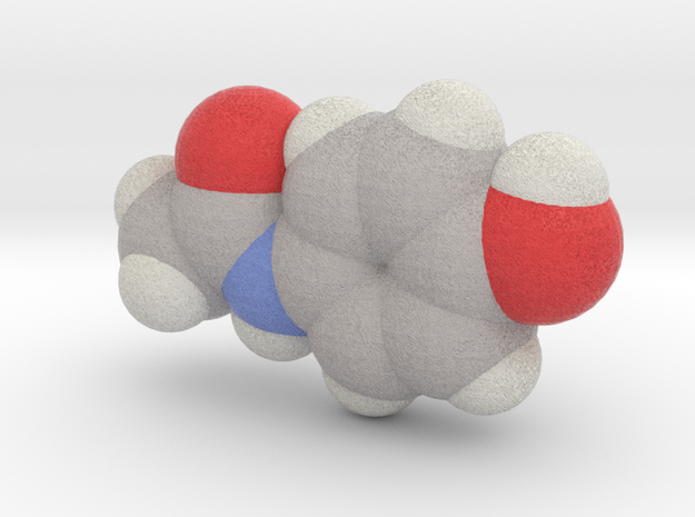 Tylenol molecule (x40,000,000, 1A = 4mm) in Full Color Sandstone