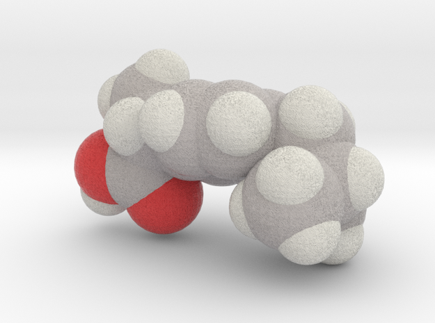 Advil molecule (x40,000,000, 1A = 4mm) in Full Color Sandstone