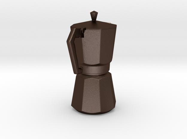 Moka pot token 3d printed