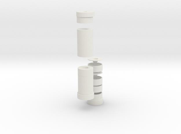 3d Suppressor in White Natural Versatile Plastic