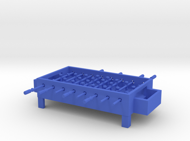 "Foosball Table 4"" long in Blue Processed Versatile Plastic"
