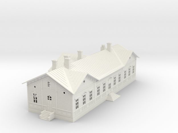 Kokkolan asema 1:160  n-skaala in White Natural Versatile Plastic
