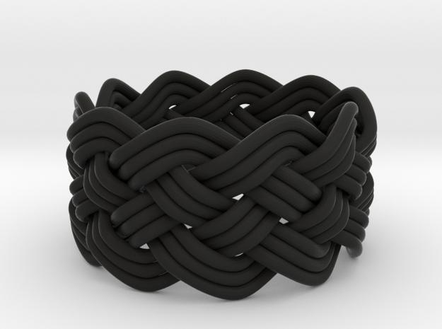 Turk's Head Knot Ring 5 Part X 10 Bight - Size 7.5 3d printed