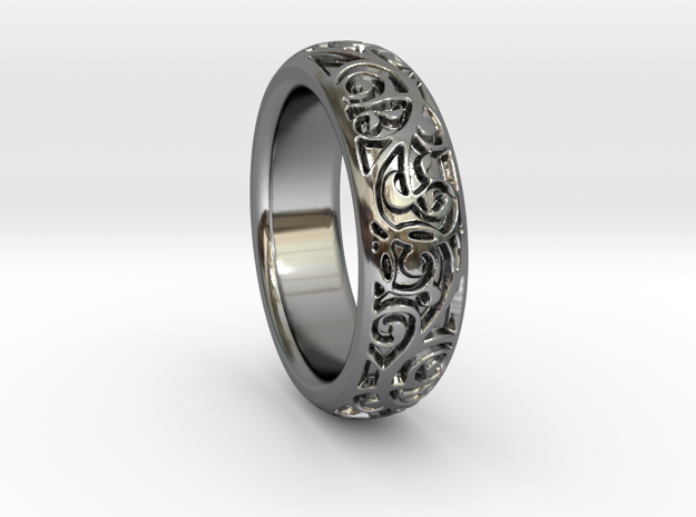 Swirling Vine Ring - Size 7 3d printed