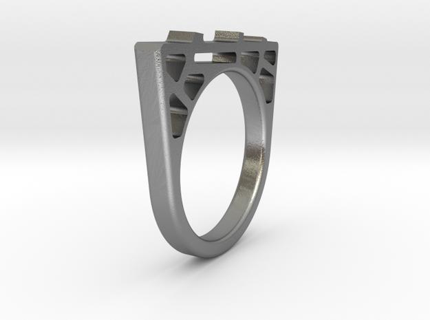 Bridge Ring in Natural Silver