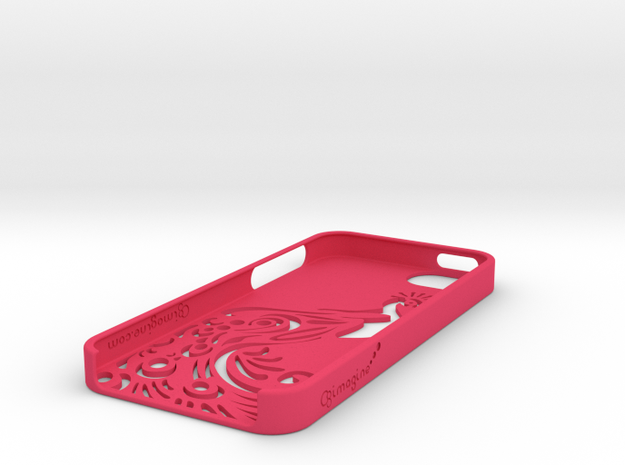 Peacock iphone Case 3d printed
