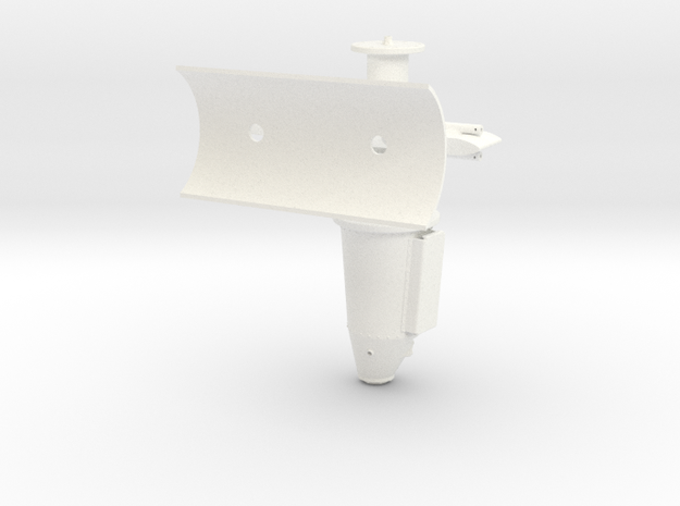 1:7 Scale Port Side Weapons Mount in White Processed Versatile Plastic