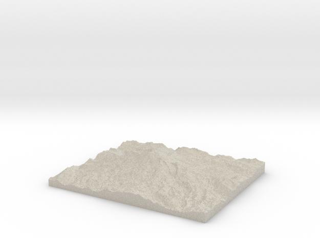 Model of Emmons Glacier 3d printed
