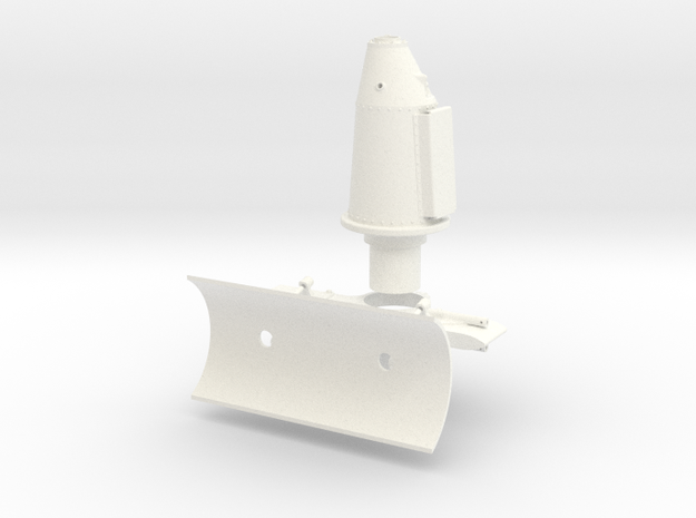 1:7 Scale Starboard Side Weapons Mount  in White Processed Versatile Plastic