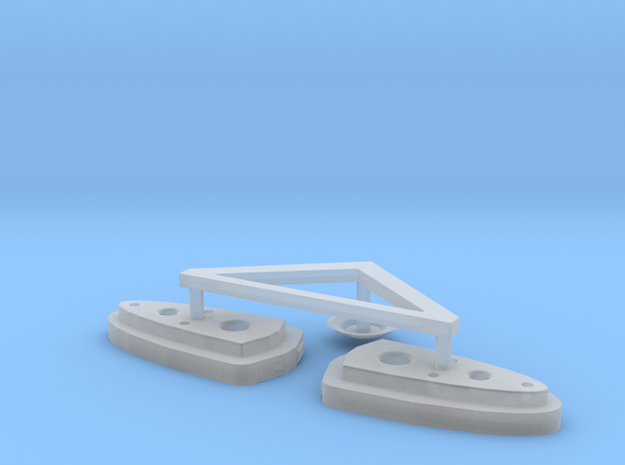 BSG Frigate Top Sensor Dome And Burners 3d printed