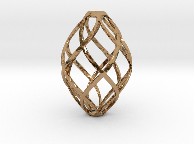 Zonohedron Pendant or Earring 3d printed zonohedron pendant with 5 zones each direction