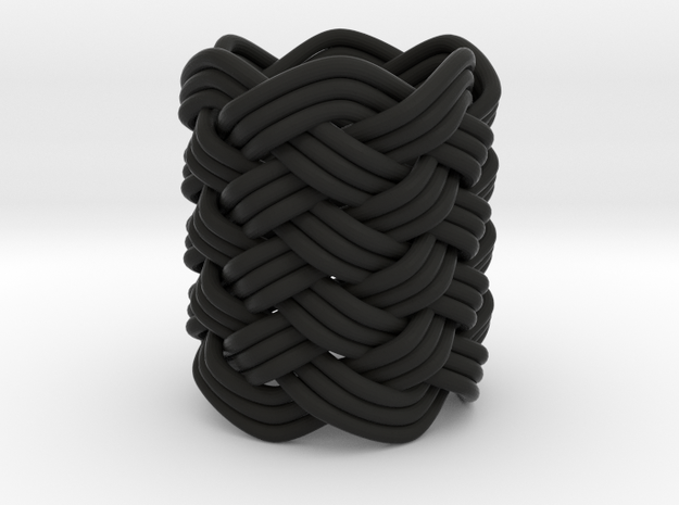 Turk's Head Knot Ring 9 Part X 6 Bight - Size 0 3d printed