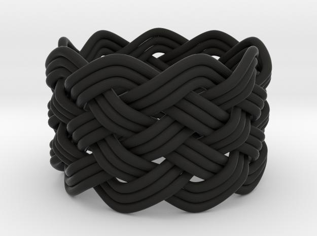Turk's Head Knot Ring 6 Part X 9 Bight - Size 8 3d printed