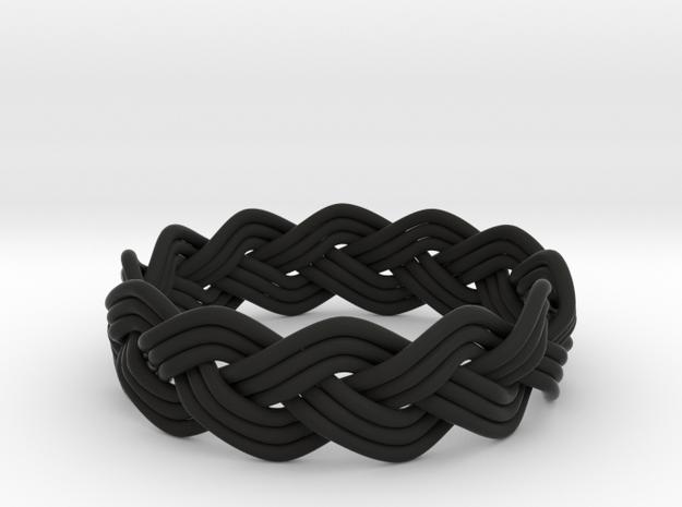 Turk's Head Knot Ring 3 Part X 12 Bight - Size 14. 3d printed
