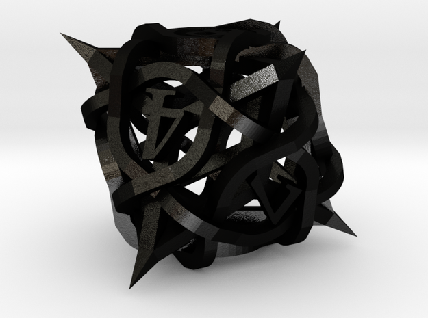 Thorn Die8 Ornament 3d printed