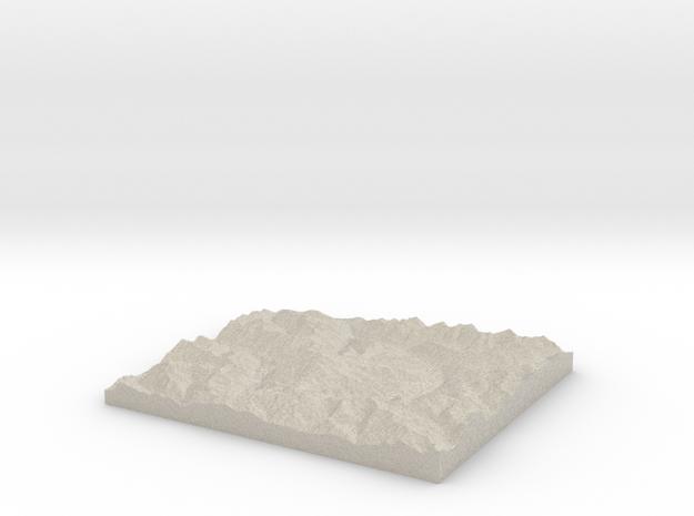 Model of Vista Glacier in Sandstone
